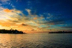 Tid till sollöneförhöjningen, Hulhumale - Maldiverna Royaltyfri Foto