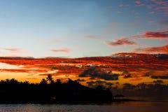 Tid till sollöneförhöjningen, Hulhumale - Maldiverna Royaltyfri Bild