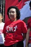 Tida Tawornseth chairwoman of UDD on stage Stock Images