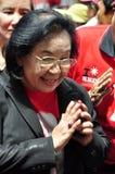 Tida Tawornseth greets Red Shirt demonstrators Royalty Free Stock Photography