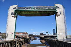 Tidal Barrier. Hull's Tidatidal barrier on the River Hull Stock Photos