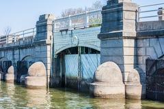 Tidal Basin Bridge Gate Stock Image