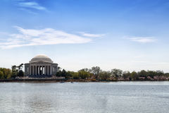 Tidal Basin Jefferson Memorial. The Thomas Jefferson Memorial in Washington DC on the Tidal Basin Stock Images