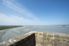 Tidal bay at Mont Saint Michel, France Stock Photography