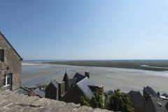Tidal bay at Mont Saint Michel, France Royalty Free Stock Photo