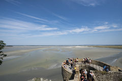 Tidal bay at Mont Saint Michel, France Royalty Free Stock Photography