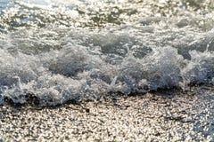 Tidal bore. Sea surf . Vacation at sea. Royalty Free Stock Photo