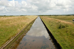Tidal canal. Royalty Free Stock Images