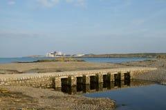 Tidal causeway. Royalty Free Stock Photography