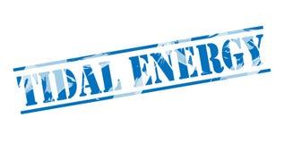 Tidal energy blue stamp Stock Photo