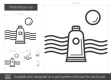 Tidal energy line icon. Stock Images