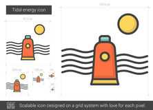 Tidal energy line icon. Stock Image