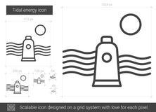 Tidal energy line icon. Stock Photo