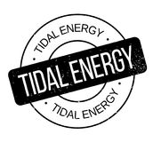 Tidal Energy rubber stamp Stock Photography