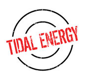 Tidal Energy rubber stamp Stock Photo