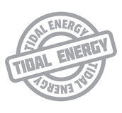 Tidal Energy rubber stamp Stock Image