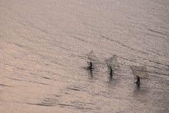 Tidal flats robot fish Stock Images