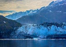 Tidal glacier face in Glacier Bay National Park. Royalty Free Stock Photography