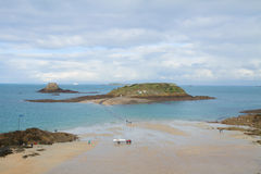 Tidal islands, Saint Malo, Brittany, France Royalty Free Stock Photo