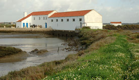 Tidal Mill. And marshlands in Sado Estuary Natural Reserve - Setúbal district - Portugal Stock Image