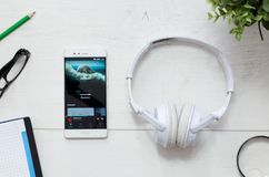 Tidal is a music service that offers legal streaming music. WROCLAW, POLAND - MARCH 29, 2018: Tidal is a music service that offers legal streaming music royalty free stock photography
