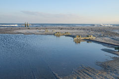 Tidal Pool on the Atlantic City Beach Stock Photo