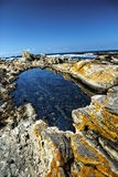 Tidal pool in rocks Royalty Free Stock Images