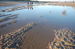 Tidal pools Druridge Bay Royalty Free Stock Images