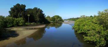 Tidal river panoramic Royalty Free Stock Photo