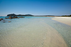 Tide. Games shapes and colors in the clear sea of Sardinia, Italy Villasimius Stock Photo