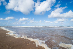 Tide on the beach of the North Sea Royalty Free Stock Images