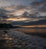 The tide on a beach in Sopela. Euskadi Stock Photography