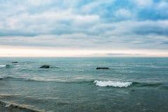 Tide on the black sea Stock Photo