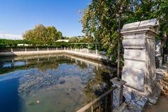 The Tide Lake (Lago de Mare) in Fidalga Palace and Gardens (Quinta da Fidalga) Royalty Free Stock Photography