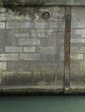 Tide level scale on Pont Neuf Royalty Free Stock Images
