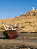 Tide. Low tide in Sur, Oman Royalty Free Stock Photos