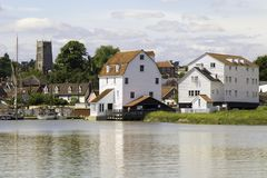 The Tide Mill and Church Woodbridge, Suffolk Royalty Free Stock Photography