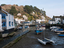 Tide out in Polperro, Cornwall, UK Stock Images