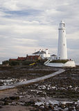 Tide is out at St Marys Island Stock Photo