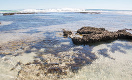 Tide Pools at Blue Holes Beach Stock Photos