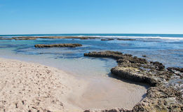Tide Pools and Indian Ocean: Blue Holes Stock Images