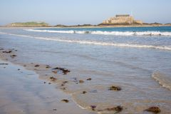 Tide at Saint-Malo. (Brittany, France Royalty Free Stock Photography