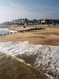 Tide and suffolk town Royalty Free Stock Image