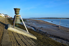The Tide and time bell at Appledore, North Devon, UK. Appledore, Devon, England, UK - 5th April 2017. The Time and Tide Bell was the first if 5 brass stock photography