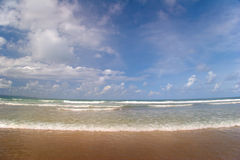 Tide of tropical beach Stock Photography