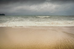 Tide washing coast Royalty Free Stock Photos