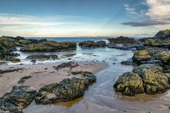 Coastal Tidel Pool. This is a tidel pool on the Antrim Coast in Northern Ireland royalty free stock photography