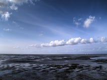 Tideland di marea bassa Fotografia Stock Libera da Diritti