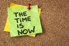 Tiden är nu Arkivbild