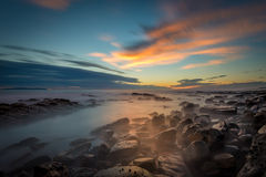 Tidepools at Sunset. The tidepools at sunset in Palos Verdes, California look they are on another planet Stock Photos